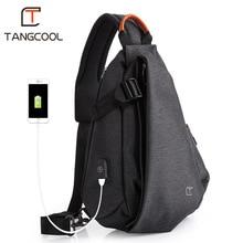 Tangcool العلامة التجارية تصميم موضة للجنسين الرجال الترفيه حقيبة ساع s عبر الجسم حقائب الترفيه الصدر حزمة حقائب كتف لباد