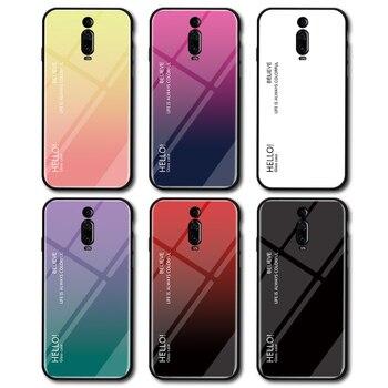 Etui na telefon dla mi A3 A2 Lite A1 CC9 mi x 2 2S Max 3 etui ze szkła hartowanego dla Xiao mi mi 9T Pro 9 SE 8 Lite 6 F1 odtwórz tylną okładkę