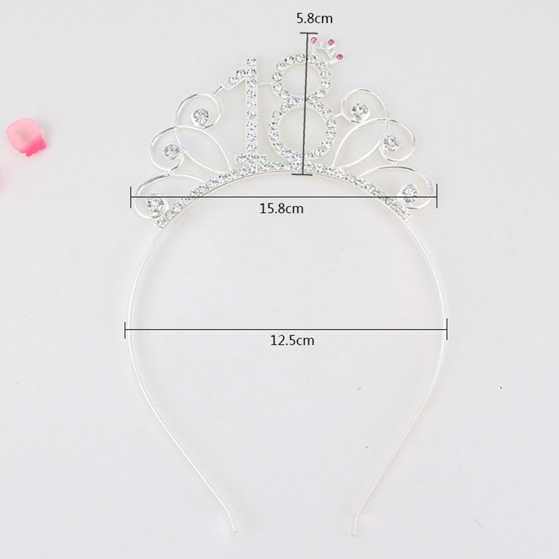 Image 2 - 80 Birthday Party Crystal Tiara Crown Birthday Queen Headband Hair Accessories for Women Happy 80th Birthday Party Decorations-in Party DIY Decorations from Home & Garden
