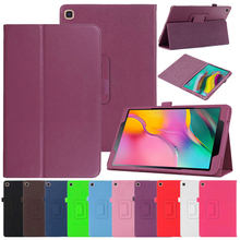 "Ultra Slim Flip Case Voor Samsung Galaxy Tab Een 8.0 ""Inch 2019 S-Pen SM-T290 SM-T295 Tablet Case litchi Patroon Shockproof Cover(China)"