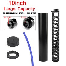 """6"""" 10 inch Extension Spiral 1/2-28 5/8-24 Single Core Car Alloy Fuel Filter Solvent Trap for NaPa 4003 WIX 24003 Motorcycle"""