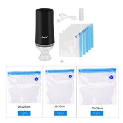 USB Rumah Tangga Makanan Vacuum Sealer Pompa Vakum Sealer Kemasan Vacuum Packer Mesin dengan 15Pcs Tas Gratis
