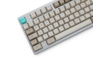 Image 4 - SA profil barwnika Sub Keycap zestaw PBT plastikowe retro beżowy do klawiatury mechanicznej beżowe i szare cyjan gh60 xd64 xd84 xd96 87 104