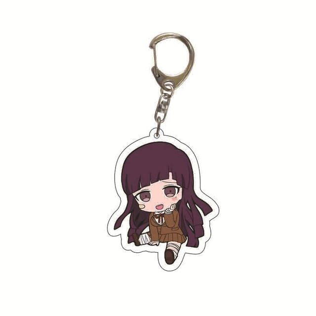 Danganronpa Double Sided Acrylic Keychain Fans Collection Anime Game Figures Nanami ChiaKi Nagito Komaeda Key Chain Cute Trinket 6