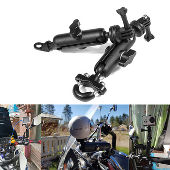 Motorcycle Camera Holder Bike Handlebar Mirror Mount Bracket For HONDA NC 700S CRF 250 VALKYRIE 1500 VTX 1300 CB400 SF MSX 125 image