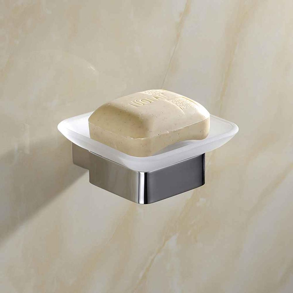 Soap Dish Holder Square Stainless Steel