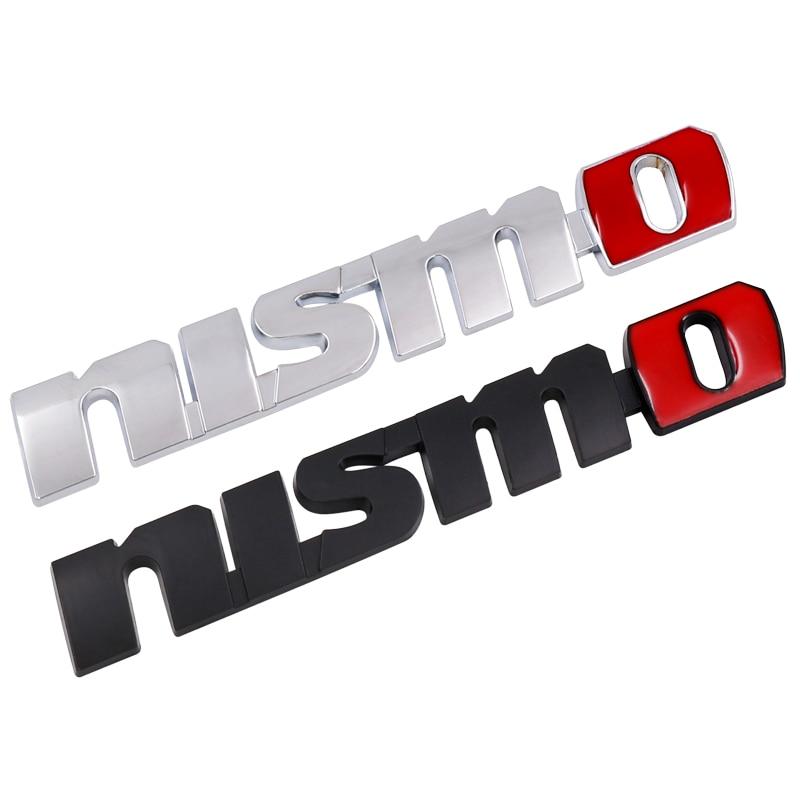 1pcs 3D Car Styling Metal Nismo Car Sticker For Nissan Metal Pure Drive Nismo Emblem Decal For Nissan Qashqai X-trail Juke Sunny