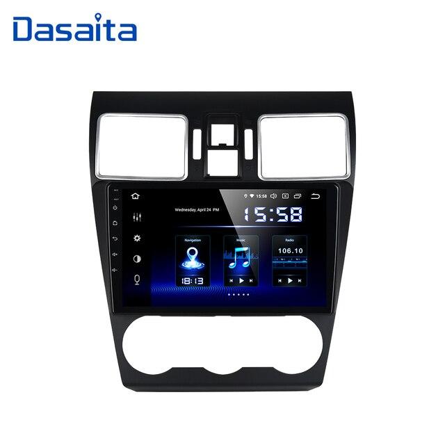 Dasaita Radio con GPS para coche, Radio con navegador, Android 10,0, 1 Din, estéreo, pantalla IPS de 9 pulgadas, MP3, MP4, AVI, SWC, para Subaru Forester, WRX XV, 2016, 2017