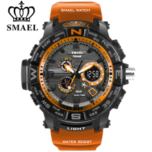 men sport watches SMAEL brand dual display watch men LED dig