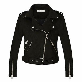 ¡Novedad de 2020! chaqueta de motociclista negra y roja de piel sintética para Otoño e Invierno para mujer, abrigo con cinturón, gran oferta en 7 colores