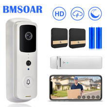 Wifi Bel 1080P HD Smart Home Video Nirkabel Bel Pintu Intercom 2MP IR Malam Visi Two Way Audio Pir alarm Cloud Lonceng(China)