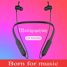 H27 Bluetooth 4.2 sports headphones hanging neck audio subwoofer Bluetooth headset metal magnetic earphones Bluetooth headset mi bluetooth headset basic