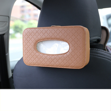 Lsrtw2017 Leather Car Interior Tissue Box for Skoda Kodiaq Mouldings Accessories