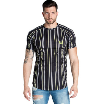 Casual Men T-shirt Stripe Summer Man   4
