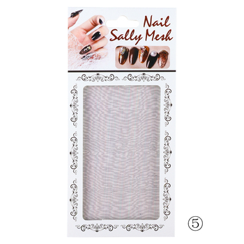 Διακόσμηση νυχιών 3d mesh nail sticker gold silver