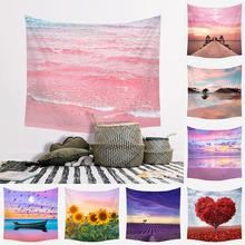 Astrology Blanket Tapestry Headboard Wall Hangings Home-Decoration Pink Carpet Background-Room
