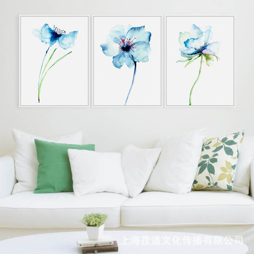 Mild Art Orchid Mediterranean Living Room Hipster Flower Decorative Cloth Hanging Painting Agent A Generation Of Fat