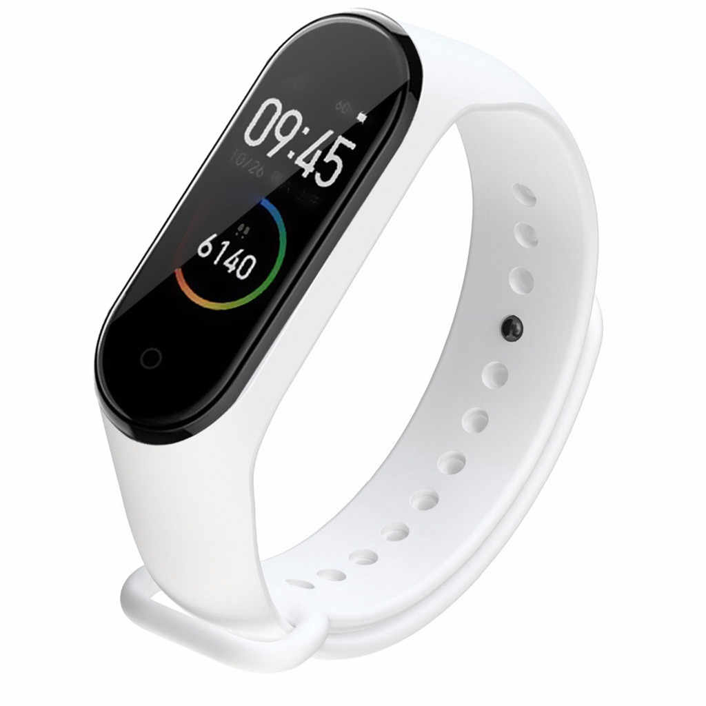 Kecil Soft TPE Silicone Penggantian Gelang Tali Pergelangan Tangan untuk Xiao Mi Mi Band 4/3 Gelang Watch Tali Kebugaran Tracker # e30