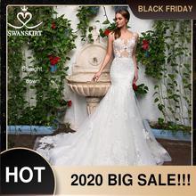 Сексуальное свадебное платье с аппликацией в виде Русалочки, милое кружевное платье со шлейфом, роскошная юбка GI14, свадебное платье принцессы, Vestido de novia
