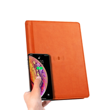 Customized Hardcover Notebook With Power Charger PU Leather Planner Notepad A5 Diary Journal Organizer