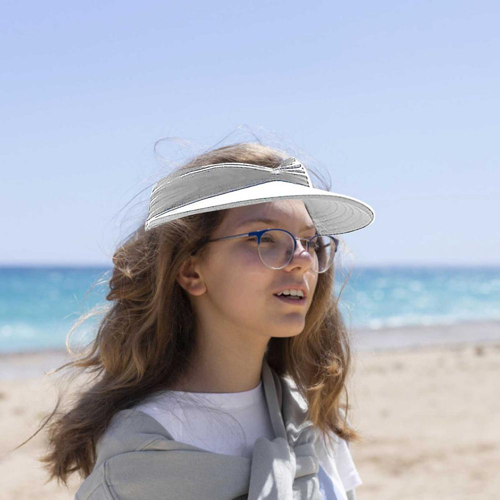 Women Sun Hat Empty Top Hat Outdoor Beach Anti-ultraviolet Hat Large Brim Straw Caps Casual Cap New Style Sun Protection Outdoor