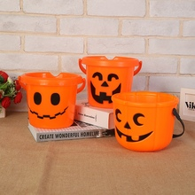 Halloween Pumpkin Candy Basket Bucket Child Trick Or Treat S/M/L Candy Bag Home