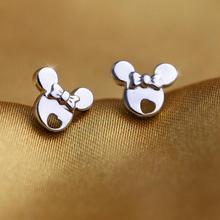 Oly2u милые серьги-гвоздики в форме сердца с изображением Микки Мауса для женщин, милые серьги в виде мыши в виде животных, детский подарок на день рождения, Kolczyki
