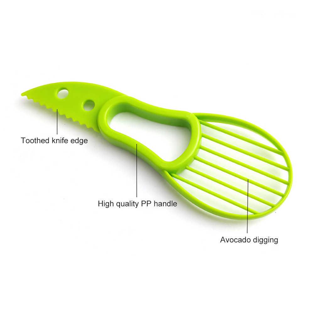 Mini rebanadora de aguacate cortador pelador Splits Fruit Pits Scoop herramientas de cocina multifuncionales 3 en 1 herramientas de verduras y frutas