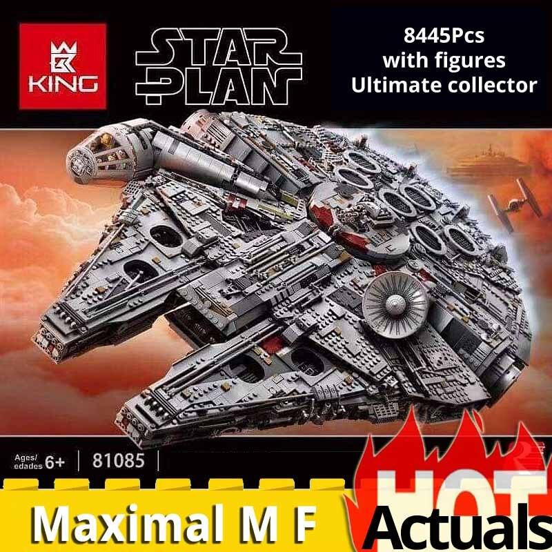 05132 collection ultime 8445 pièces Max millénium lys Falcon vaisseau spatial blocs de construction brique legoinglys 2017 Star Wars 75192