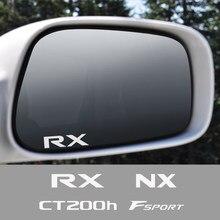Autocollant réfléchissant en vinyle de rétroviseur de voiture pour Lexus RX 300 IS 250 GX 400 UX 200 NX LX LS GS ES CT200h Fsport accessoires 4 pièces
