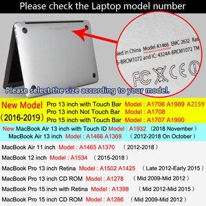 Image 5 - 2020 Новый чехол для ноутбука с принтом Вселенная для MacBook Air Pro Retina 11 12 13 15 16 дюймов с сенсорной панелью + клавиатурой
