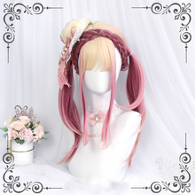 Cosplay Wig Women Hair Heat-Resistant Lolita Ombre-Style Long Straight Synthetic Cute