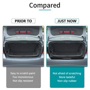 Image 4 - BMW X3 f25 e83 X4 f26 X5 e70 e53 f15 f85 X6 새로운 성능 고무 자동차 후면 범퍼 트림 후면 가드 플레이트 보호 스티커