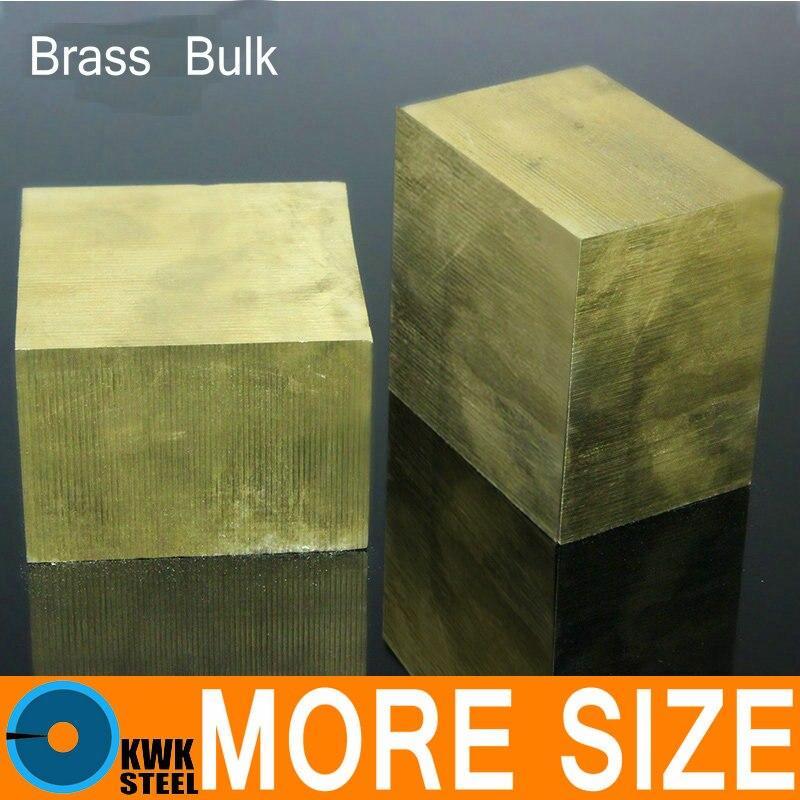 Brass Block Bulk Sheet Plate Of CuZn40 2.036 CW509N C28000 C3712 H62 Mould Material Laser Cutting NC Free Shipping