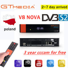 Gtmedia DVB-S2 FTA V8 nova TV Satellitare Ricevitore Built-In wifi Freesat V8 Ricevitore con Free Europe Cline H.265 gt media v8(China)