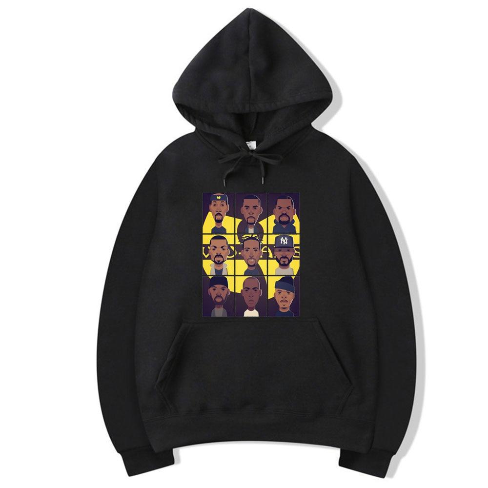 Wu Tang Clan Hoodie Fashion Hip Hop Band 2020 New Logo Design Hoodies Fashion Hooded Long Sleeve Sweatshirt Rap Music Tops