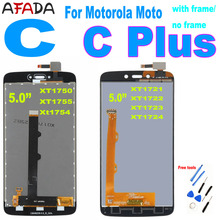 5.0 For Motorola Moto C XT1750 XT1755 Xt1754 LCD for Moto C Plus CPlus XT1721 XT1722 XT1723 XT1724 LCD Display Touch Screen
