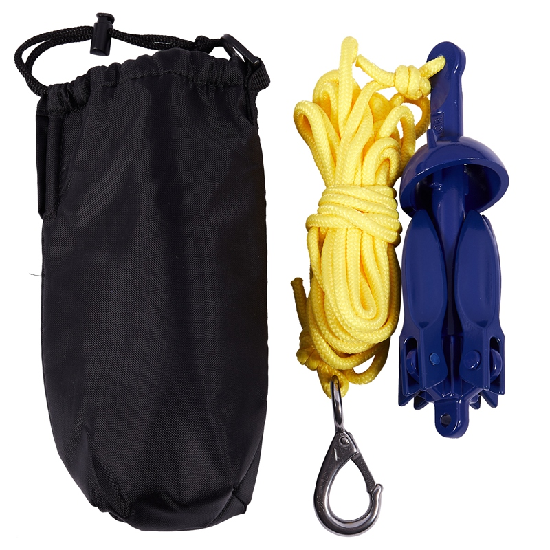 New4-tine Rowing Boats Folding Anchor Small Boat Anchor Marine Rope Kit For Kayak Canoe Boat Marine Sailboat Watercraft Fishing