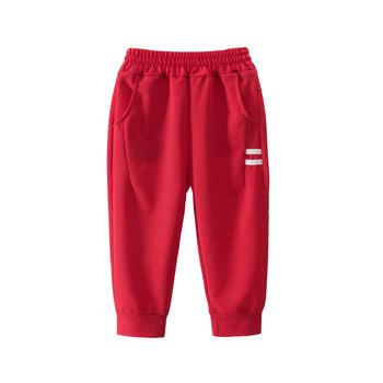 Gorąca sprzedaż chłopców jesień dorywczo spodnie dla dzieci odzież bawełna chłopców długie spodnie chłopców odzież Sport spodnie na jesień tanie i dobre opinie COTTON Luźne Chłopcy Kieszenie Pełnej długości Pasuje prawda na wymiar weź swój normalny rozmiar Sznurek Cartoon