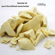 1000g Pure Cocoa Butter  Ounces Raw Unrefined Cocoa Butter Base Oil Natural ORGANIC  Essential Oil cosmetic grade