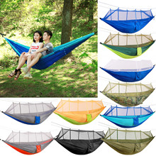 Hammock Furniture Sky-Tent Outdoor Double-Green Camping/garden with Mosquito-Net 1-2
