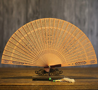 Suzhou Classical In National Customs Sandalwood Fan Hollow Out Wenwan Arts And Crafts Sandalwood Fan Folding Fan