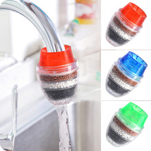 3pcs Domestic Kitchen Faucet Activated Carbon Water Purifier Including 1 Blue, 1 Red and 1 Green