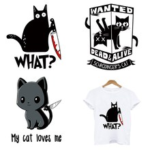 Patches Clothing Iron-On-Transfers Cat-Stripes-Application Heat-Sensitive Custom One-Applique