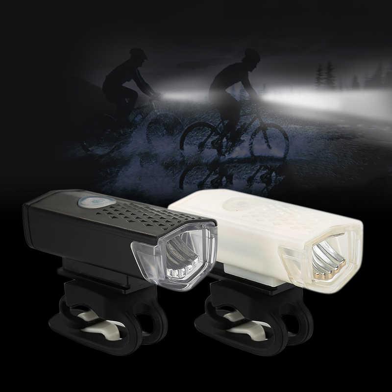 Luz da bicicleta usb recarregável 300 lumens lâmpada da bicicleta frente farol lanterna luz da bicicleta acessórios