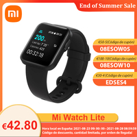 "[€30-€4 código:EDSE4]Xiaomi Mi Watch Lite Reloj inteligente, 1.4 ""Pantalla TFTLCD GPS GLONASS 5ATM Reloj inteligente deportivo impermeable para hombres Monitor de frecuencia cardíaca"