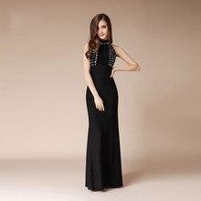 Sexy Mermaid Dresses Backless Formal Dress Women Elegant Black Evening Long Beaded Host Gala Party 2019