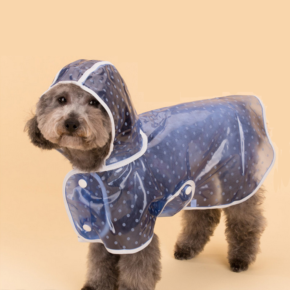 1pc Waterproof Dog Raincoat With Hood Transparent Pet Dog Puppy Rain Coat Cloak Costumes Clothes For Dogs Pet Supplies