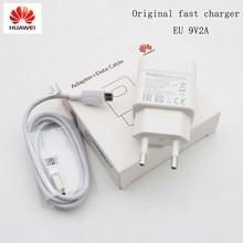 Оригинальное Сетевое зарядное устройство Huawei 9 В/2 а QC 3,0, кабель Micro USB для P7 p8 p9 p10 lite mate 7 8 Honor 5X 6X 8x 7x y6 y7 y9