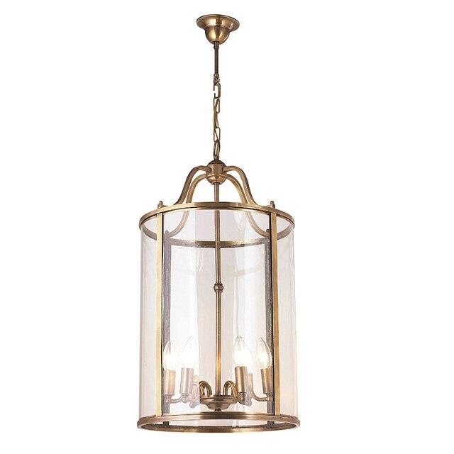 Американский подвесной светильник, лестница, европейский стиль, коридор, домашний сад, бронза, карнавал, подвесной светильник, птичья клетка, вилла, клуб, лампа LO7309